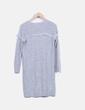 Vestido tricot gris Bershka