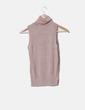 Top glitter cuello vuelto Zara