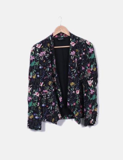 Kimono negro floral The Kooples
