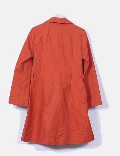 Abrigo naranja texturizado