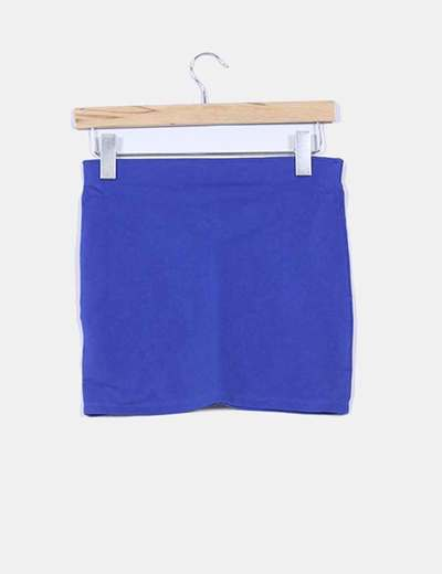 Mini falda azul klein elastica