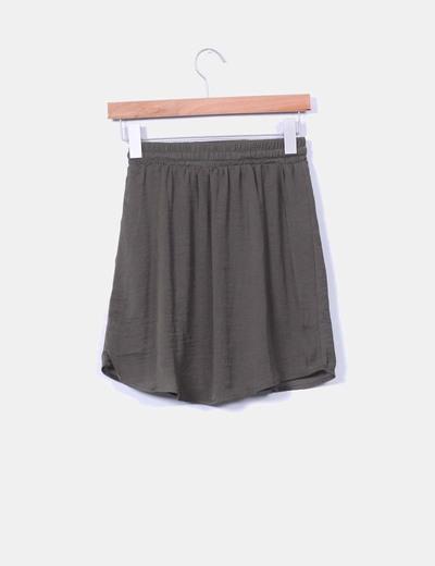 Mini falda color caqui