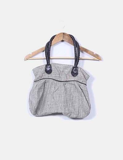 Bolso marrón de tela combinado NoName