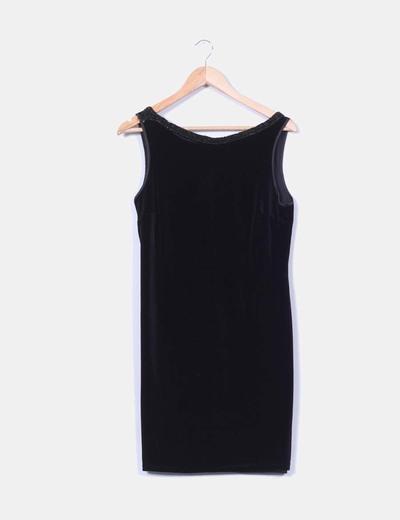 Vestido terciopelo negro Scudetto