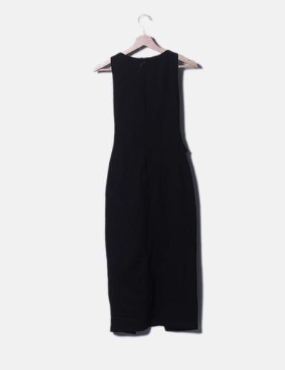 venta de bajo precio mayor descuento nuevo estilo de 2019 Vestido midi negro entallado