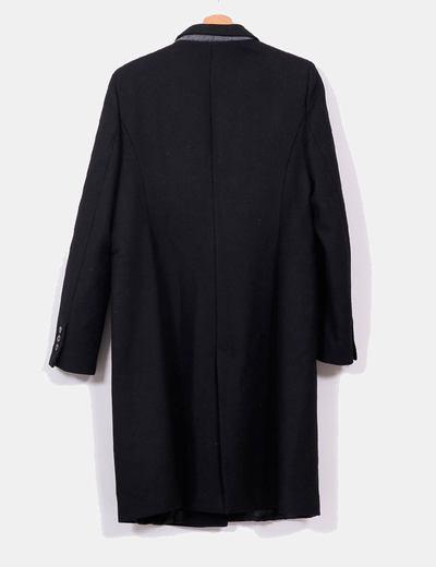 Abrigo de lana negro largo