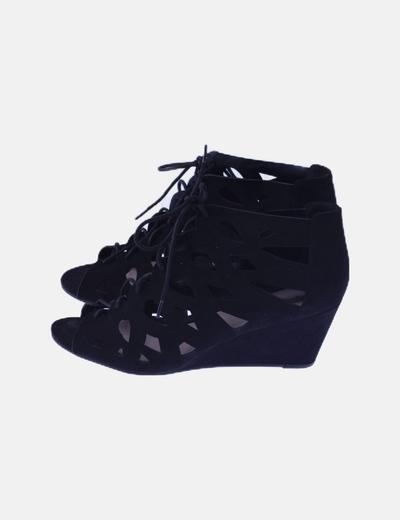 Sandalias cuñas cordones