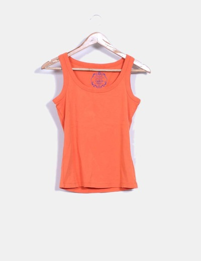 Camiseta naranja básica Atmosphere