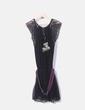 Vestido negro con encaje y bordado Desigual