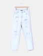 Jeans boyfriend claro con rotos Pull&Bear