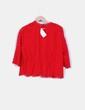 Top rojo manga larga encaje H&M