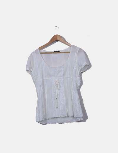 Blusa combinada con manga corta