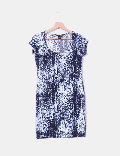 Vestido estampado escote redondo H&M