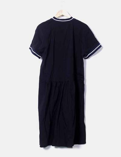 Vestido negro midi zara