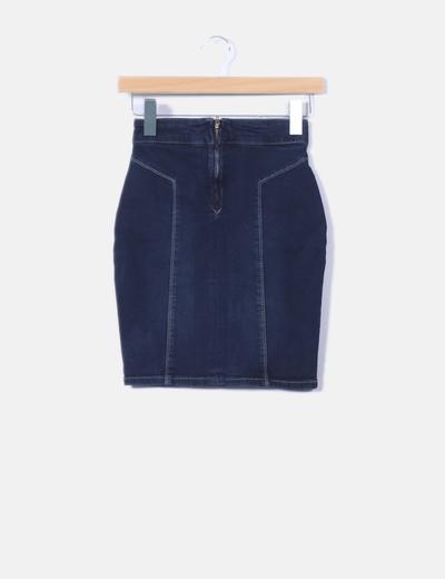86d032d71 Mini falda vaquera ajustada