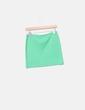 Mini falda tricot verde Privata