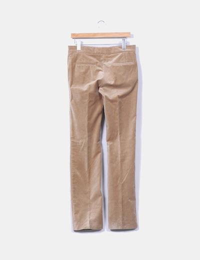 Pantalon camel terciopelo