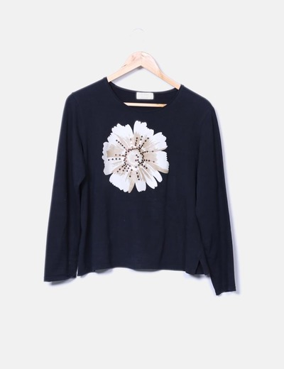 Camiseta basic print flower Blay Moda & Punt