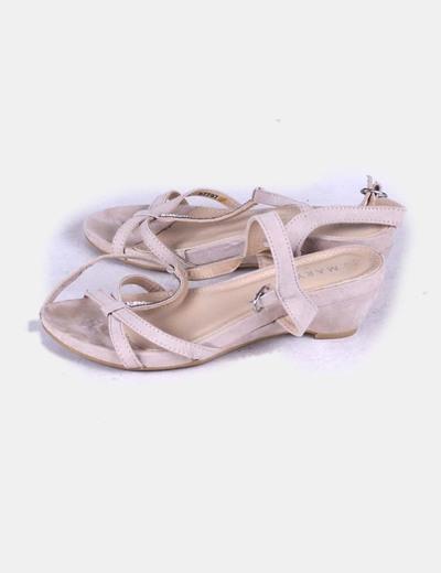 Sandalias de tacón rosa palo ante Marypaz