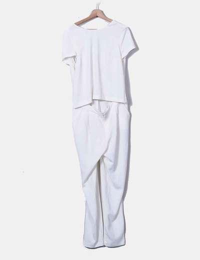 White chiffon jumpsuit Zara