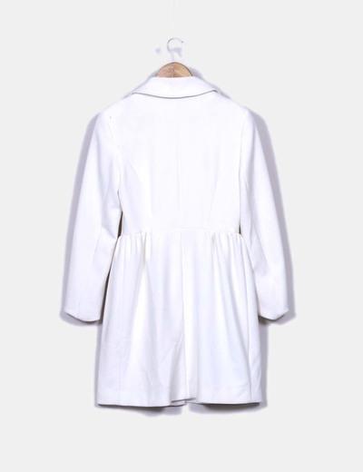 Abrigo 3 4 blanco