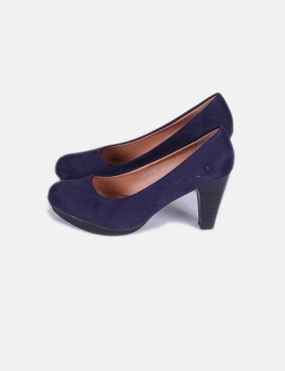 Zapatos antelina azul marino DosPies