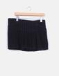 Mini falda negra  de pana con tablas  Mioko