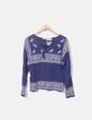 Jersey tricot azul marino combinado Springfield
