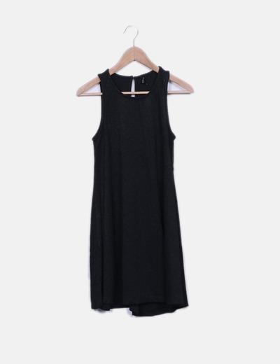 Vestido negro glitter Stradivarius