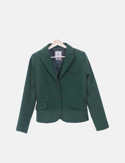 Blazer verde de lana