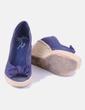 Sandalia azul marina cuña Bershka