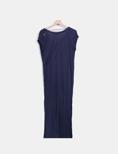 Vestido maxi azul marino