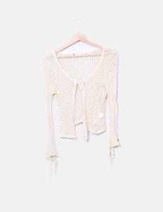 97235c09994 Chicwish Casaco de crochet bege (desconto de 41%) - Micolet