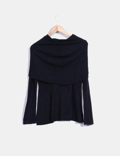 Top tricot negro manga larga