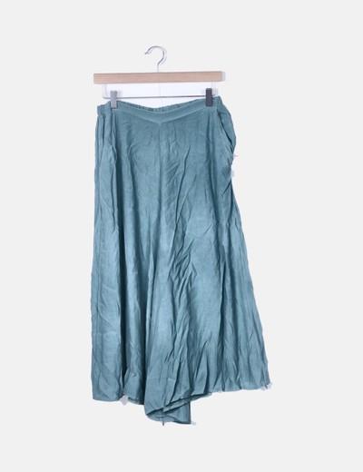 Pantalón culotte verde