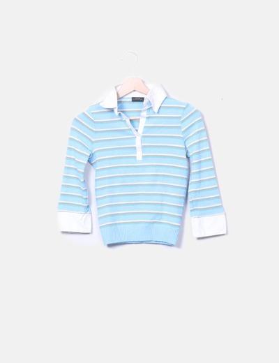 Polo tricot azul