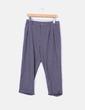 Pantalón sarga gris con pinzas Pull&Bear