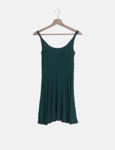Vestido midi fluido verde