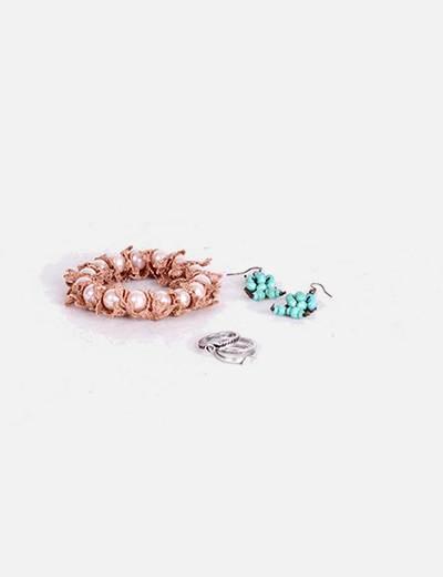 Conjunto de anillos, pendientes y pulsera(5) NoName