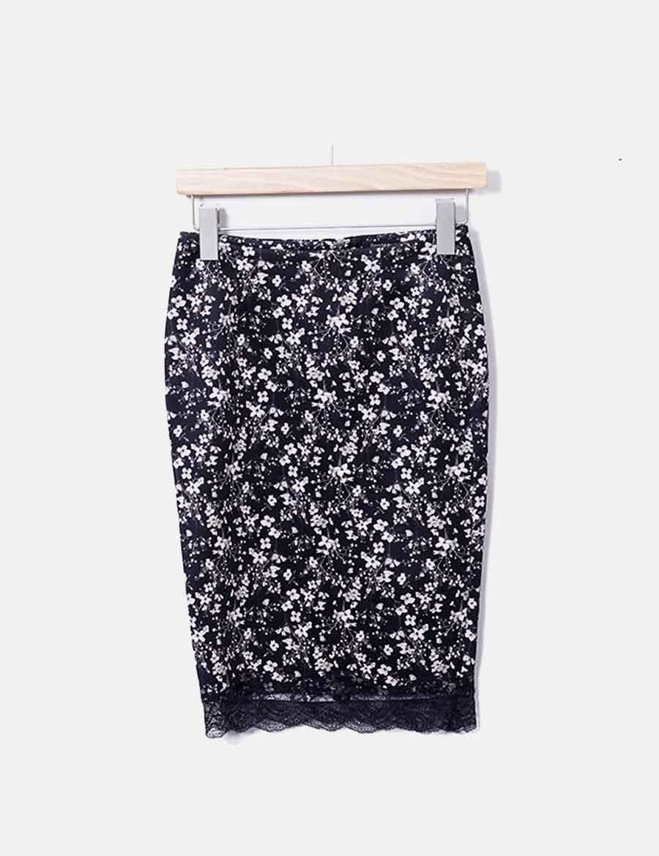 5b89431f online Falda Faldas tubo baratas Bershka negro floral AYrpxwAq6 ...
