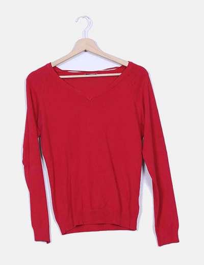 Jersey rojo cuello pico Pimkie