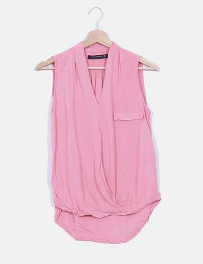 Blusa fluida rosa Zara