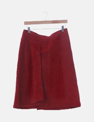 Falda pana roja