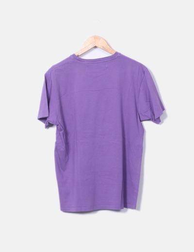 gran descuento comprar nuevo calidad perfecta Camiseta lila de manga corta