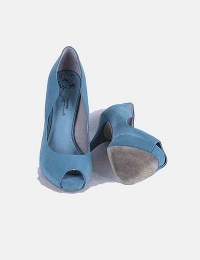 Zapato azul turquesa