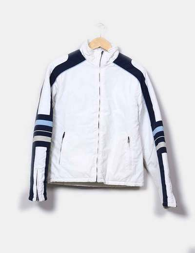 Chaqueta sport blanca detalles azul marino Picken
