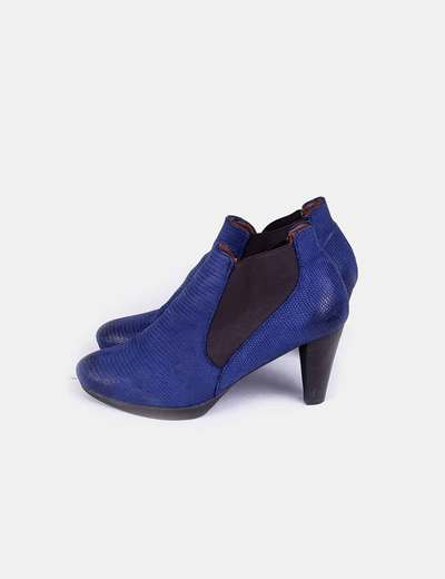 Bottines bleues texturé Wonders