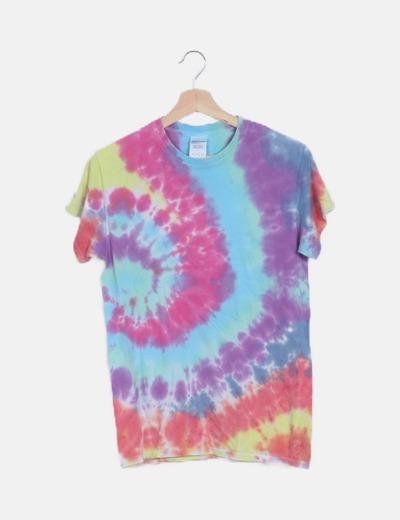 Camiseta tie dye multicolor