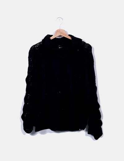 Jersey lana negra