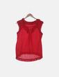 Blusa roja sin mangas Tintoretto